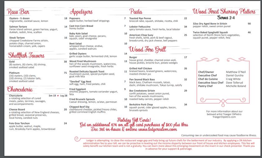 ledger menu